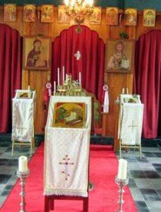 iconen in de orthodoxe kerk in Breda